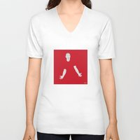 liverpool V-neck T-shirts featuring Jordan Henderson Liverpool FC by Mark McKenny