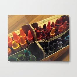 In the Crayon Box Metal Print