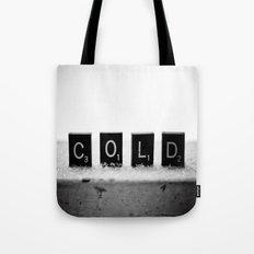 Cold Scrabble Tiles Tote Bag
