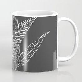 Black and White Botanical Drawing Coffee Mug