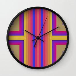Disco Lines Wall Clock