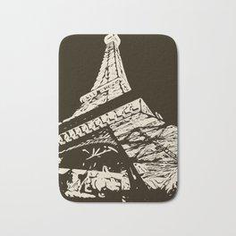 Eiffel Tower, Paris in black and white Bath Mat