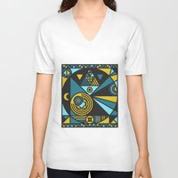 witchcraft V-neck T-shirts featuring Witchcraft Alchemist by thedeadprocession
