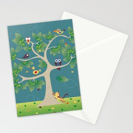 tree of birds Stationery Cards