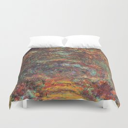 Claude Monet's The Rose Walk, Giverny Duvet Cover