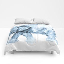 Elephant Sketch in Blue Comforters
