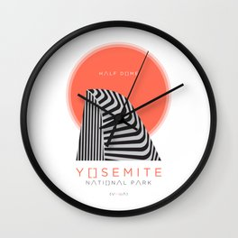 Half Dome | Yosemite National Park Wall Clock