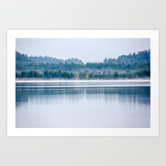 Morning begins with mist Art Print