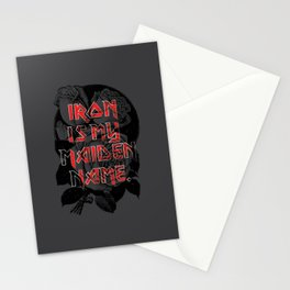 Iron is my maiden name. Stationery Cards