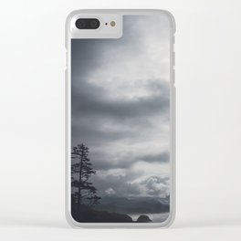 Uneasy Sea Clear iPhone Case