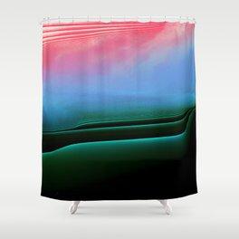 Selfie #Glitch Shower Curtain