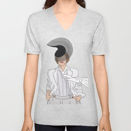 Patti LuPone With Hat Unisex V-Neck