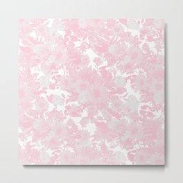 Blush pink watercolor girly floral Metal Print