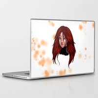 xmen Laptop & iPad Skins featuring Phoenix by DaniSantos