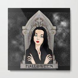 Queen of Halloween Tombstone Spooky Sky Metal Print