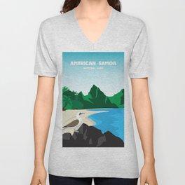 National Parks Poster: American Samoa Unisex V-Neck