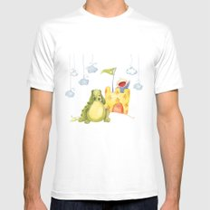 Baby castle MEDIUM Mens Fitted Tee White