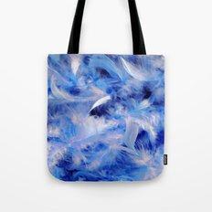Blue Plumes Tote Bag