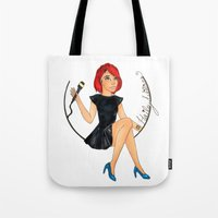 paramore Tote Bags featuring Hailey W.  by Astha Karki