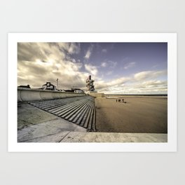 Redcar Beach  Art Print