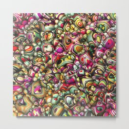 Colorful Abstract 3D Shapes Metal Print