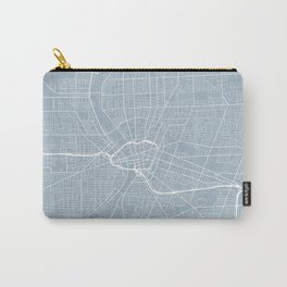 Rochester Map, USA - Slate Carry-All Pouch