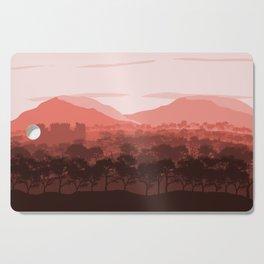 Terracotta Flat Landscape,Mountain Landscape, Forest Landscape, Castle Landscape, Nature Landscape Cutting Board