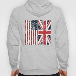 Union Jack British American Flags Hoody