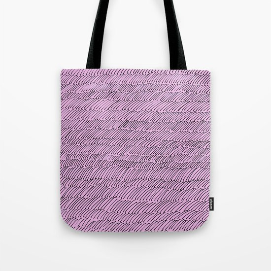 Penstrokes on Pink Tote Bag