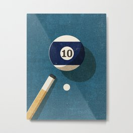 BILLIARDS / Ball 10 Metal Print