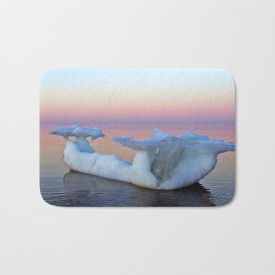 Viking Iceship on the Sea Bath Mat