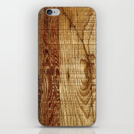 Wood Photography iPhone Skin