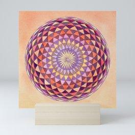 Watercolor Sacred Geometry Sunsrise Torus Mini Art Print