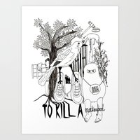 to kill a mockingbird Art Prints featuring To Kill a Mockingbird by Louise Norman