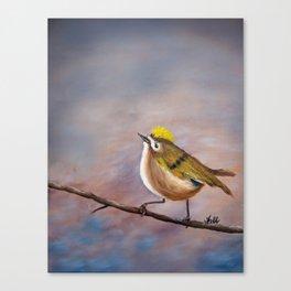 Goldcrest Songbird Canvas Print