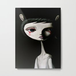 sad blood drop Metal Print