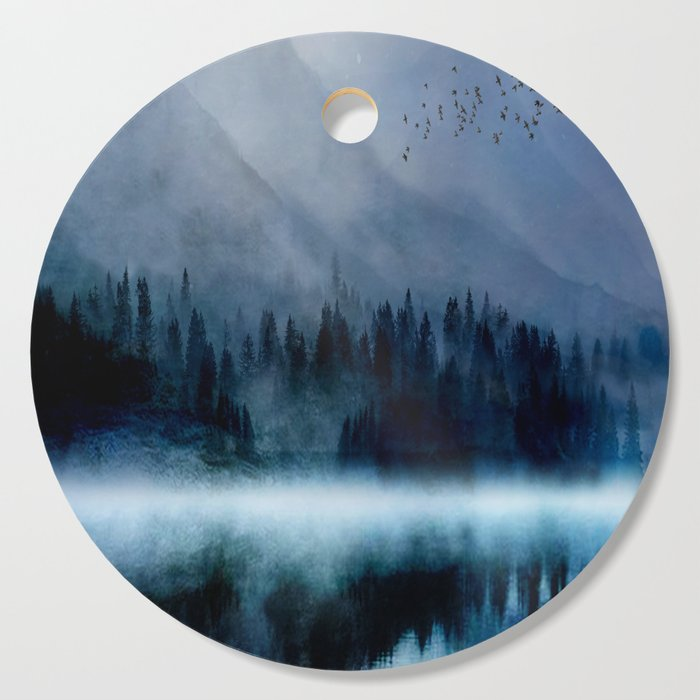 Mountainscape Under The Moonlight Cutting Board