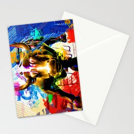 Wall Street Bull Painted Stationery Cards