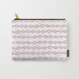 Geometrical abstract pastel pink tribal diamonds stripes Carry-All Pouch