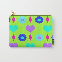 Daisy and heart all over print , duck egg Carry-All Pouch