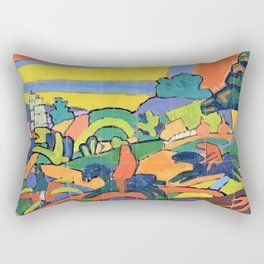 Spencer Gore - Design for Deer Hunting Mural in the Cabaret Theatre Club - Digital Remastered Edition Rectangular Pillow