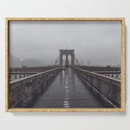 Brooklyn Bridge Fog Serving Tray