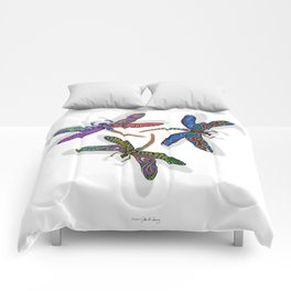 DRAGONFLY CIRCLE Comforters