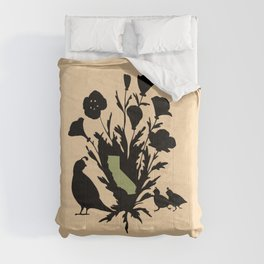 California - State Papercut Print Comforters