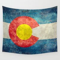 denver Wall Tapestries featuring Colorado State Flag by Bruce Stanfield