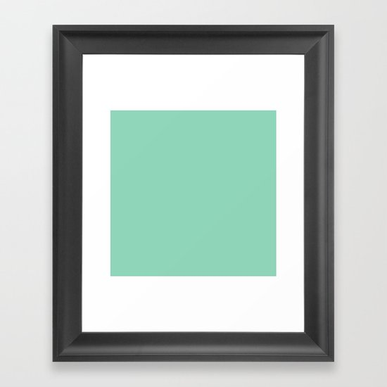 Mint Green Framed Art Print