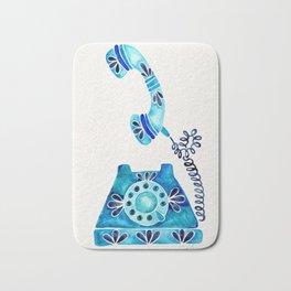 Vintage Rotary Phone – Blue Raspberry Bath Mat