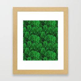 Cascading Wisteria in Green + Black Framed Art Print