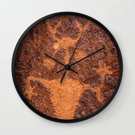 Moab Man Petroglyph Portrait - Utah Wall Clock