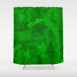 Emerald Fragments Shower Curtain